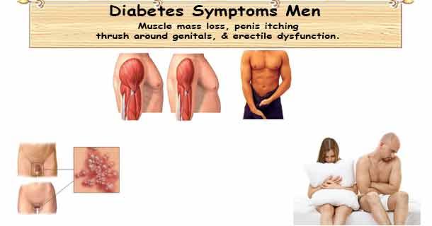 Men's diabetes symptoms