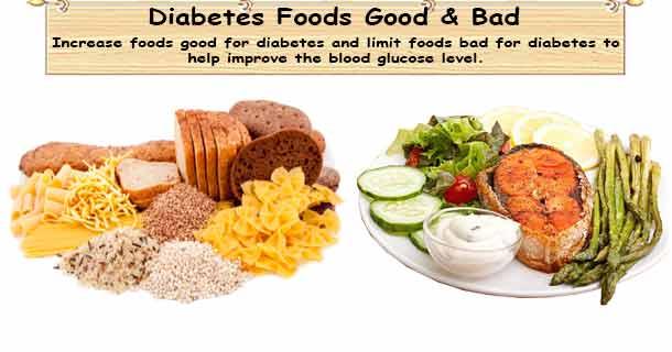 Best Food Diabetes Good Food Diabetes Bad Food Diabetes