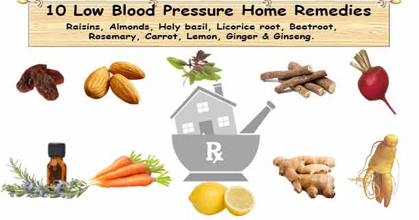 How To Increase Bp When It Is Low Home Remedies